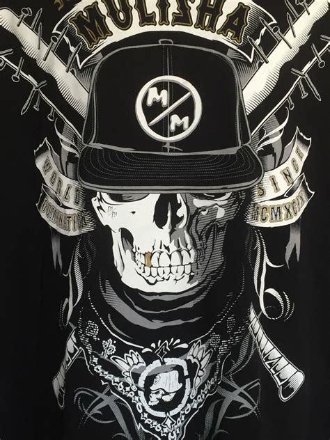 metal mulisha 2xl tshirt gangster skull bandana world