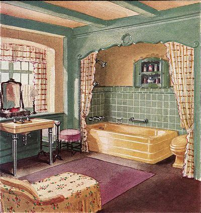 1930s style home decor art wall decor bathroom artwork vintage bathroom art