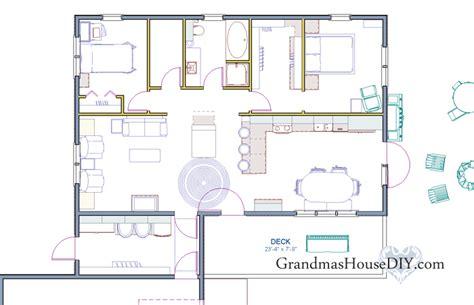 Free House Plan 1 200 Square Foot Country Home Grandmas Scream House Floor Plans