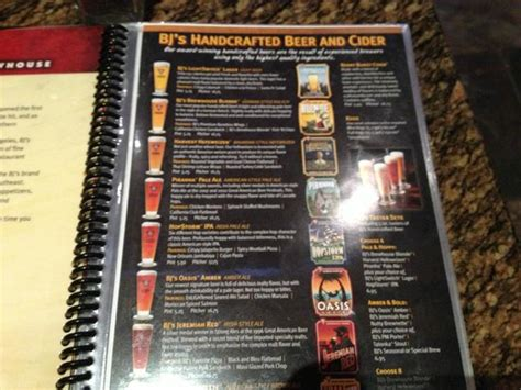 Bjs Ale House by Bjs Menu Picture Of Bj S Restaurant Brewhouse