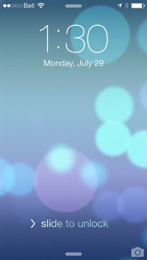 cute wallpaper slide to unlock what s new in ios 7 beta 4 extensive list of images show