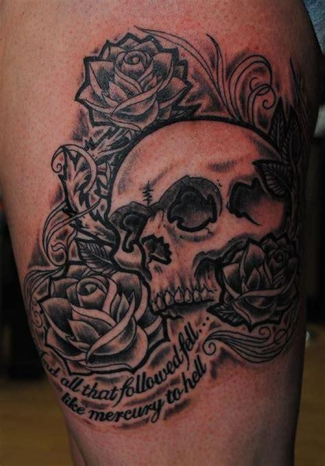 tattoo queen street belfast skull and roses by george scharfenberg tattoonow
