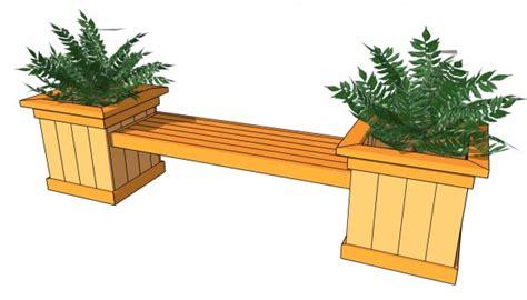 flower pot bench planter bench plans myoutdoorplans free woodworking