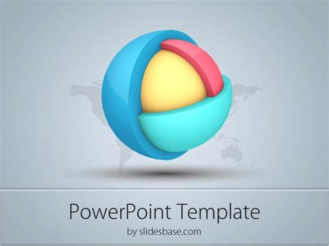 3d templates for powerpoint 3d layered sphere powerpoint template slidesbase