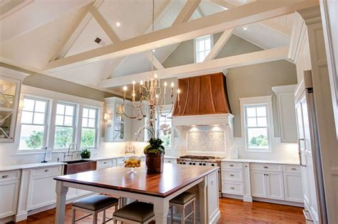 Kitchens With Vaulted Ceilings by Kitchen Cathedral Ceiling Transitional Kitchen