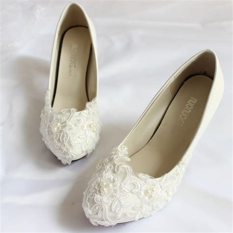 womens wedding shoes flats low heel white lace wedding shoes bridal handmade white