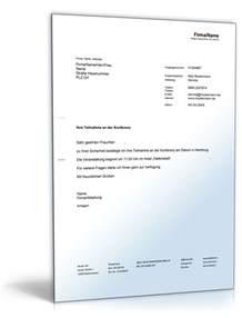 Musterbriefe Privat Kostenlos Best 228 Tigung Konferenzteilnahme Vorlage Zum