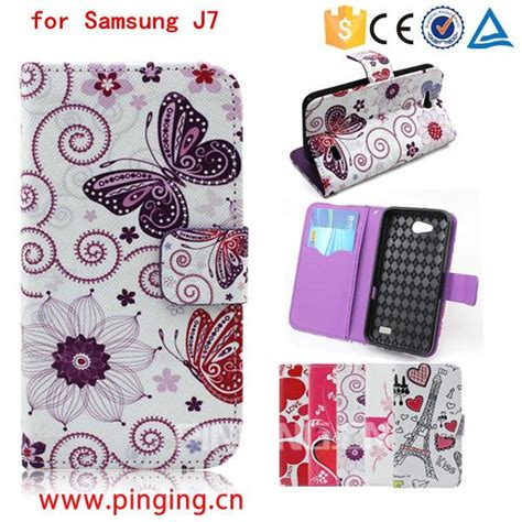Flipcase Flipcover Samsung Galaxy J7 2016 pu leather printed pattern flip cover for samsung
