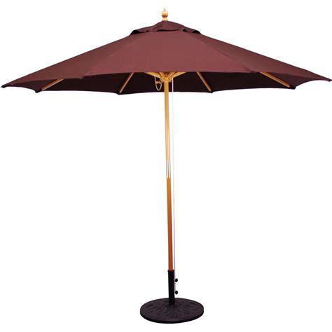 Used Patio Umbrella Galtech 9 Ft Wood Patio Umbrella With Pulley Lift Wood Ultimate Patio
