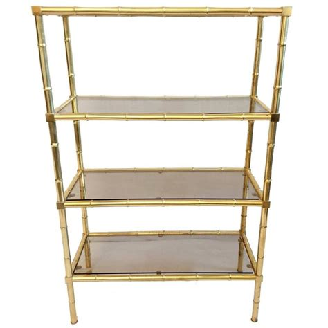 Etagere 6 Cases by Faux Bamboo 201 Tag 232 Re In Brass For Sale At 1stdibs