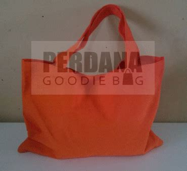 Custom Kulit Kanvas Goodie Bag Tote Bag Tas Jinjing tas souvenir tas spunbond tas kanvas goodie bag