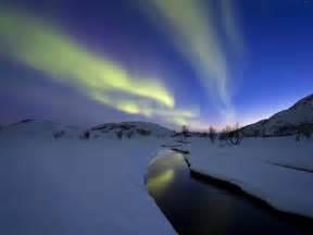 Photographic Wall Murals aurora borealis over skittendalen valley troms county