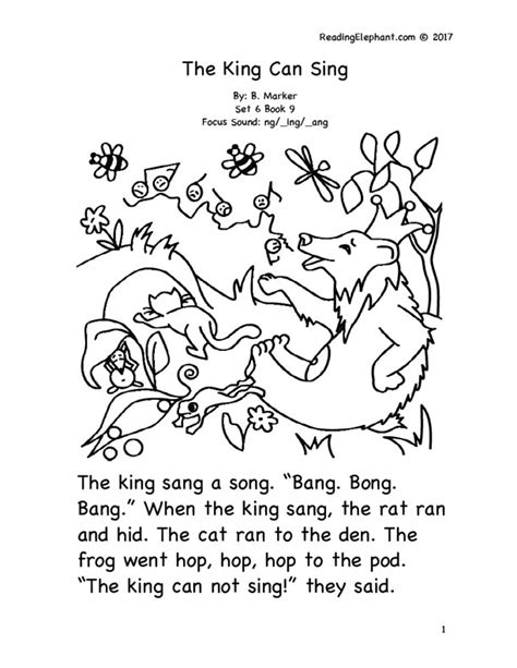 phonics stories  kindergarten reading elephant