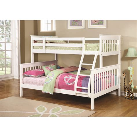 coaster twin loft bed with desk coaster bunks traditional twin over full bunk bed value