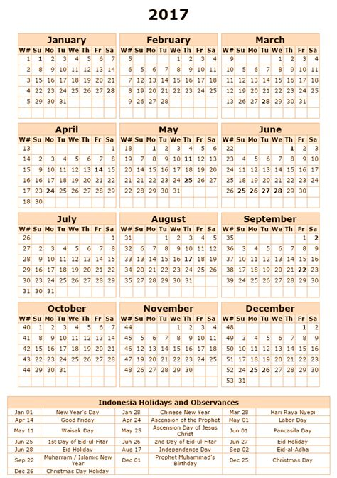 Printable Calendar 2017 Indonesia | free printable calendar 2017 indonesia holidays calendar 2017