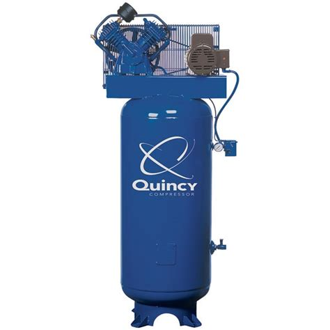 quincy 5hp 2 stage 60 gal air compressor tp tools equipment