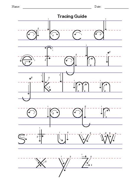 handwriting tracing worksheet printables kids