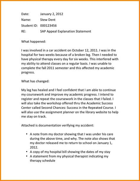 Financial Aid Gpa Appeal Letter Exle 7 appeal letter exle for financial aid appeal letter