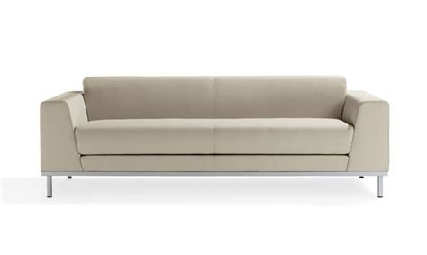 upholstered modern sofa with steel base for reception