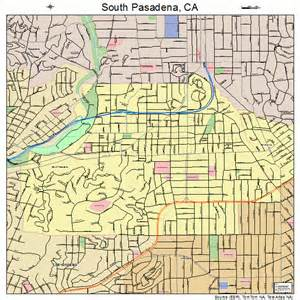 map of pasadena california south pasadena california map 0673220
