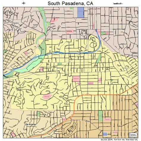 pasadena california map south pasadena california map 0673220
