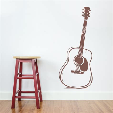 guitar wall stickers acoustic guitar wall decal