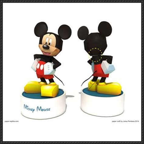 Mickey Mouse Papercraft - papercraftsquare new paper craft mickey mouse free