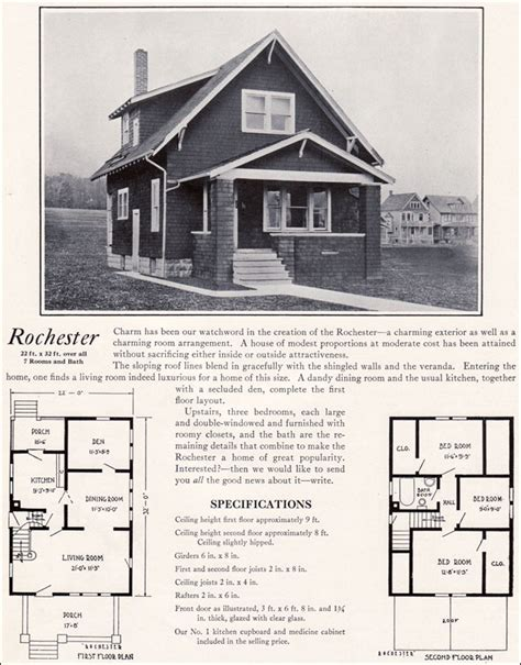 Aladdin Homes Floor Plans 1920s modern vernacular bungalow 1922 rochester by