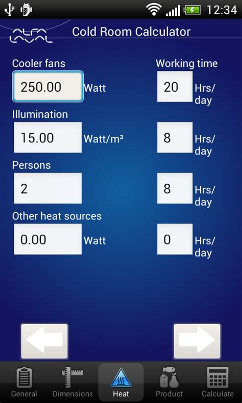 room calculator cold room calculator android apps on play