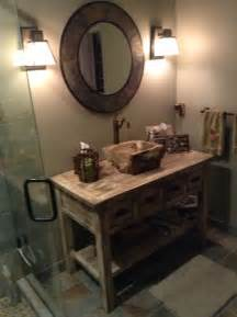 Woodland Vanity Reclaimed Wood Farmhouse Vanity Farmhouse Bathroom