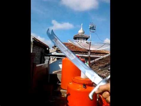 Pedang Zhulfakor tes ketajaman reflika pedang zulfikar