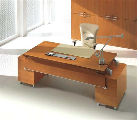 Modern Wood Office Desk Briliant Idea Modern Solid Wood Office Desk Combined White Chair Decosee