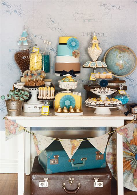 travel themed table decorations diy diy pinterest maps globes and suitcases it must be a travel party