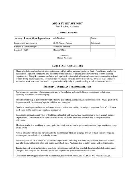 section supervisor job description ah 64d aircraft production supervisor l 3 army fleet