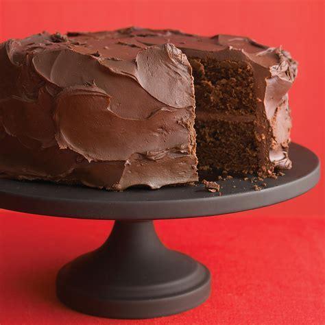 Dark Chocolate Cake with Ganache Frosting