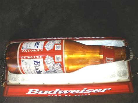 Vintage Budweiser Pool Table Light by Vintage Budweiser Iced Bottle Pool Table Light Ebay