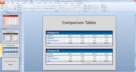 table templates for powerpoint free comparison tables template for powerpoint presentations