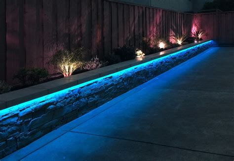 Rgb Landscape Lights Rgb Led Landscaping Lights Contemporary Garden Seattle By Solid Apollo Led