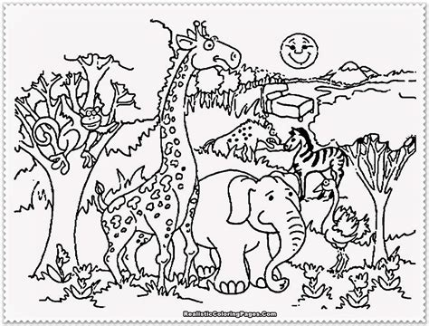 Coloring Page Of Zoo Animals | zoo animal coloring pages realistic coloring pages