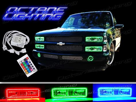 headlight color changer 88 98 chevy gmc truck multi color changing led shift rgb