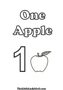number 1 coloring page number one coloring pages of one apple crafts