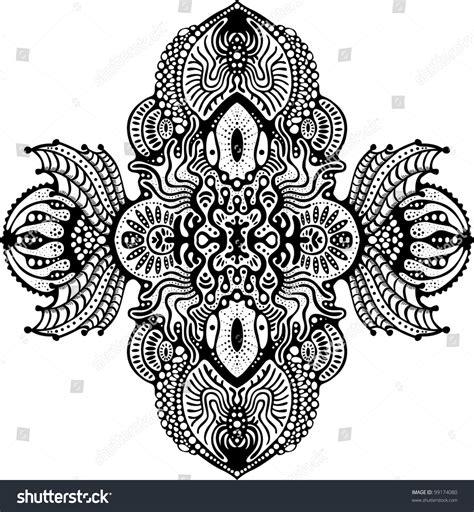 design elements symmetry symmetrical psychedelic design element stock vector