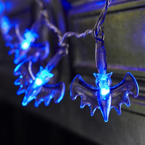 blue fairy lights amazon 20 led bat fairy lights blue battery operated halloween