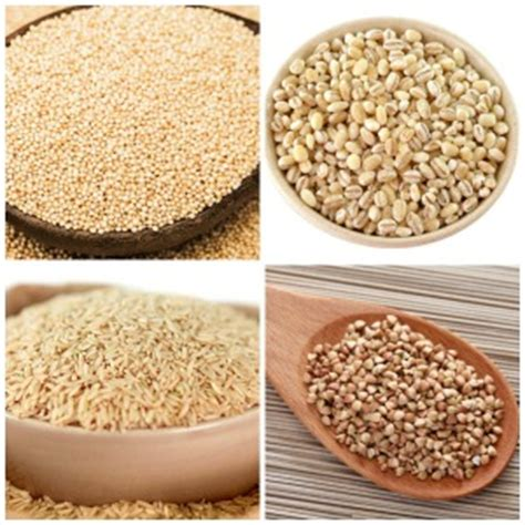 4 exles of whole grains 20 types of whole grains nutrients in them and their