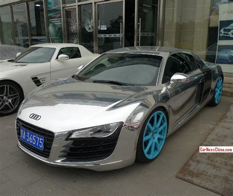 shiny silver lamborghini bling audi r8 is shiny silver in china carnewschina com