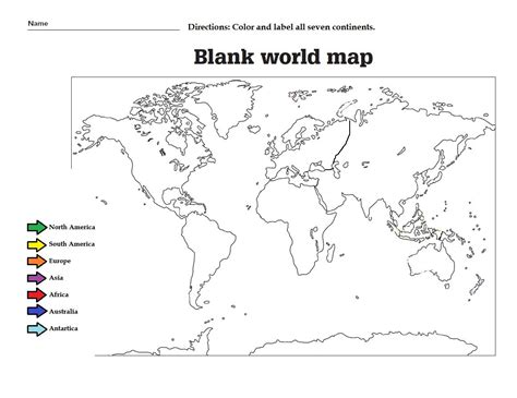 label   continents  color  great worksheet