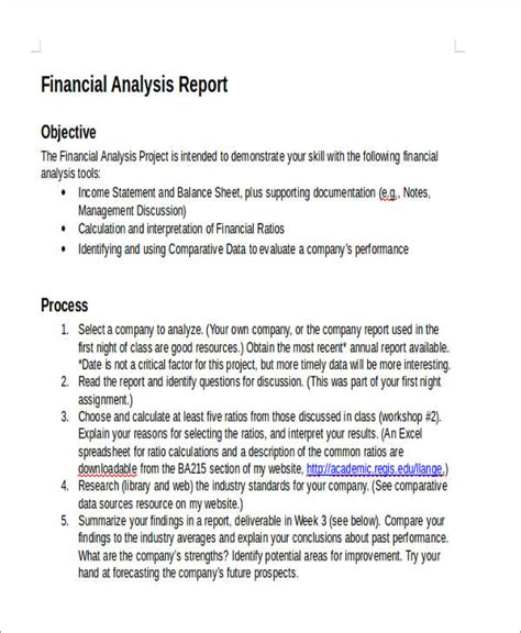 sle financial report company financial analysis report sle 28 images