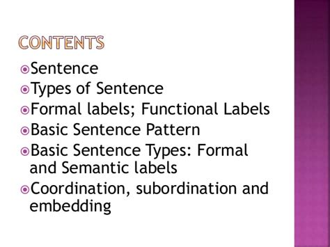 sentence pattern types phrase clause and sentence structure