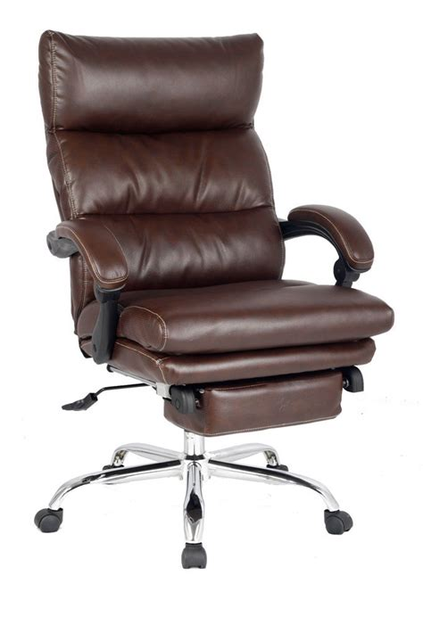 Reclining Office Desk Chair - recliner office chair thick padded executive chair napping