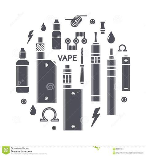 vector illustration  vape icons stock photo image